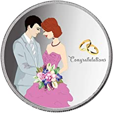 Taraash 999 Silver 10 Gram Wedding Coin for Newly Married Couple CF24R12G10