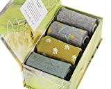 Pastoral Gift Box by Thought | 4 pairs of women's bamboo crew socks