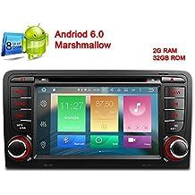 freeauto 7Inch Android 6.0HD Digital pantalla táctil capacitiva Radio estéreo de coche reproductor de DVD GPS para Audi A3S3con Canbus función de espejo de pantalla OBD264bits de ocho núcleos 2G RAM 32GB ROM