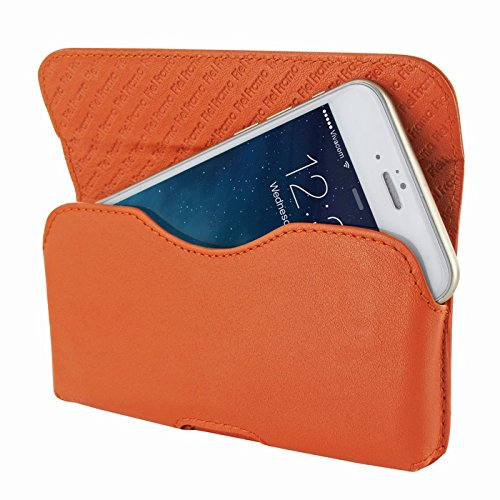 Piel Frama 688CO Etui rigide de protection design Crocodile horizontal pour iPhone 6 Plus Noir orange