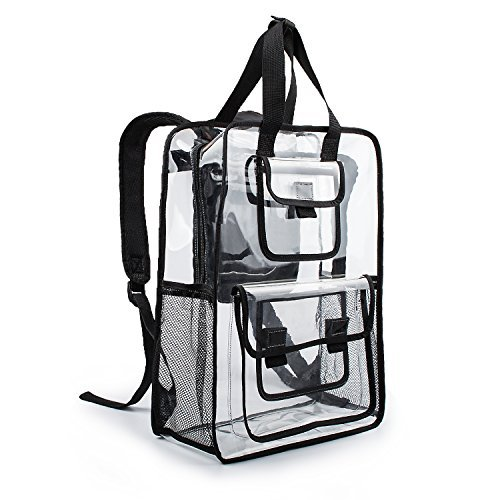e3aae8bd11 Estarer Clear Backpack Travel Beach Work Security Bag Transparent School  Satchel College Bookbag
