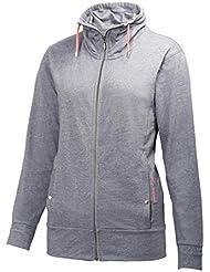 Helly Hansen W BliSS FZ - Chaqueta para mujer, color gris, talla L