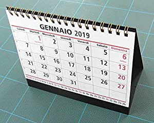 Calendario da tavolo 16 x 12 cm.: Amazon.it: Cancelleria e ...