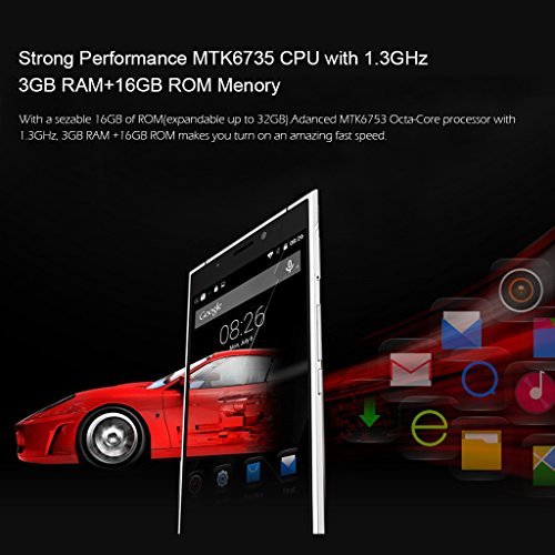 "Doogee F5 - Smartphone libre 4G Lte (Pantalla 5.5"", 16 GB, Cámara 13 Mp, Android 5.1, Octa Core 64bits, Wifi, Bluetooth), Plata"