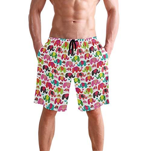 Bennigiry pantalones cortos de verano con diseño de elefantes, pantalones cortos de...