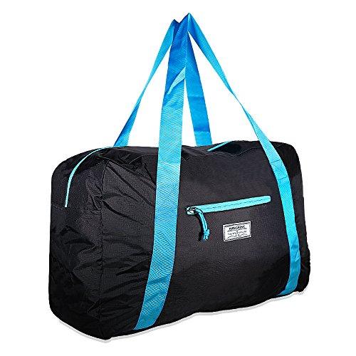 Mangrove Tasche, 53cm 46L Foldable Travel Duffel Bag 70D Anti-Tear Nylon Lightweight Sporttasche Gym Bag mit Hochwertigen SBS Zippers, Große Kapazität mit einem Fach und einer äußeren 3D Tasche (Rolling Weekender Tasche)