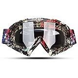 Fodsports Motorrad Goggle Motocross Wind Staubschutz Fliegerbrille Snowboardbrille Schneebrille Skibrille Wintersport Brille Off-Road Schutzbrille (Transparent D)