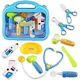 Arztkoffer Doktorkoffer für Kinder Zubehör Arzt Pretend Play Kinder Rollenspiele für Kinder Mädchen 3 Jahre und älter (Style B)