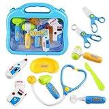 Medico Kit di Giochi di Ruolo Valigetta del Dottore Kit Infermiera Giocattolo Simulazione 10 Pezzi per Bambini 3+