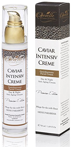 Develle Caviar Intensiv Creme 50 ml. Glas Pumpspender I Kaviar SOFORT-FACELIFT...