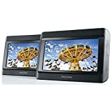 """9"""" Duo Professional Twin Screen Portable DVD Player with Car Safe Stanchion Mounting"""