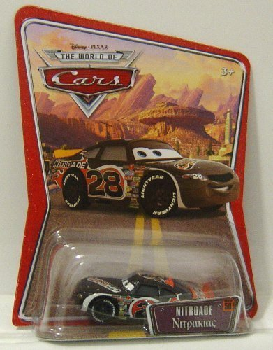 Disney/Pixar Cars, The World of Cars Die-Cast Vehicle, Nitroade No. 28, 1:55 Scale by Mattel