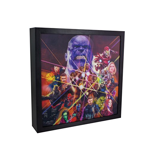 Marvel Avengers Infinity War, 3D-Lichtkunstwerk, Eisen, mehrfarbig