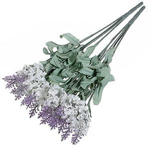lyhhai Ramo de Flores Artificiales de Lavanda y Seda Boda, casa, Fiesta, Bricolaje, 10 Cabezas