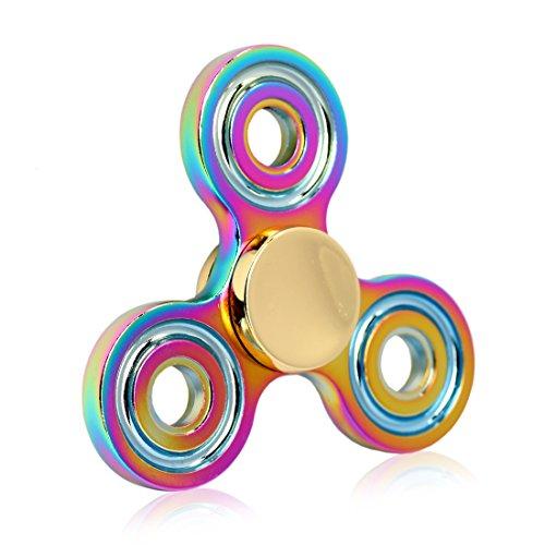 Preisvergleich Produktbild Fidget Spinner - Fxexblin- Spielzeug Tri Rainbow Hand Spinner (T1 rainbow)