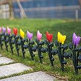 Sungmor 4Stück Garten Lattenzaun, 236,2cm Schmetterling Design Kunststoff Einfassungen, Gras Rasen Beeten Pflanze Grenzen, Landschaft Weg Platten