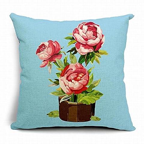 L'éditeur (TM) bleu nouveau Motif Flower Vase pour plante en