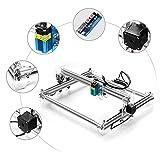 HUKOER CNC USB Gravure au laser Machine à sculpter Découpe laser de bureau Imprimante laser A3 Pro, 2500Mw avec lunettes de protection