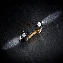 Organizador de llaves original válido como llavero abrebotellas o llavero abridor. Organizador de llaves de bolsillo con iluminación en ambos extremos.