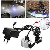 Nebulizzatore ad ultrasuoni per nebbie Fogger, Acogedor 24V Mini macchinetta ad ultrasuoni, Fogger Water Fountain Stagno Nebbia Atomizzatore Umidificatore d'aria(1)