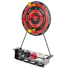Idea Regalo - MagiDeal Darts Drinking Game Freccette Magnetico Gioco Di Bevande Dart Shot Giochi Alcolici Con 4 Bicchieri Per Adulti Bar Festa