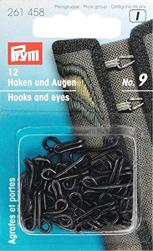 PRYM Haken und Augen, schwarz (Haken Und Auge)