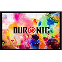 """Duronic (Certified Refurbished) Projector Screen 70"""" APS70/169 Screen Only Hook & Loop Wall Mountable HD 16:9 Matte White Screen Size 155 X 87cm"""