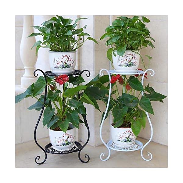rolanli tag re fleurs m tal support de pot de fleurs pour plantes int rieur balcon blanc. Black Bedroom Furniture Sets. Home Design Ideas