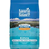 Natural Balance Ultra WBH Chicken Duck Salmon Meal Kitten Dry Cat Food 6 lbs
