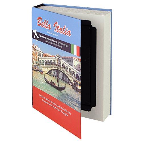 HMF 80935 Buchtresor, getarnte Geldkassette, echte Papierseiten, 'Bella Italia', 23 x 15 x 4 cm,...