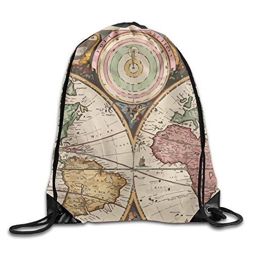 World map umbrella the best amazon price in savemoney have you shop unisex vintage old world map print drawstring backpack rucksack shoulder bags gym bag gumiabroncs Gallery