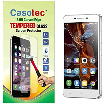 Casotec 2.5D Curved Edge Tempered Glass Screen Protector for Lenovo Vibe K5 Plus