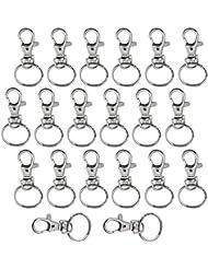 UOOOM Lot de Porte-clés Pivotant en Métal pour Ranger vos clés