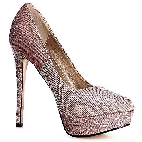 topschuhe24, Scarpe col tacco donna Light Pink
