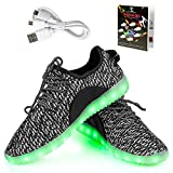 Shinmax LED Shoes 7 Colors LED USB Rechargable Light Up Shoes of Unisex Men and Women With USB Chargable For Thanksgiving Day Valentine's Day Party Christmas Hallowen Gift with CE Certificate