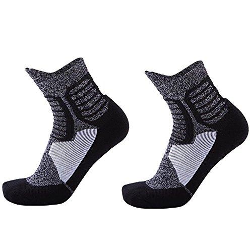 Sport Socken Unisex Sneakersocken Kniehohe, Anti-Rutsch, Breathable Verdickt Deodorant, Damen & Herren, für Fitness, Tennis, Joggen, Laufen, Alltag