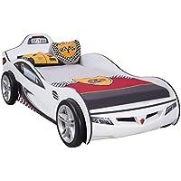 Preisvergleich für Cilek COUPE Rennfahrerbett Autobett Kinderbett Bett Weiß (mit Matratze)