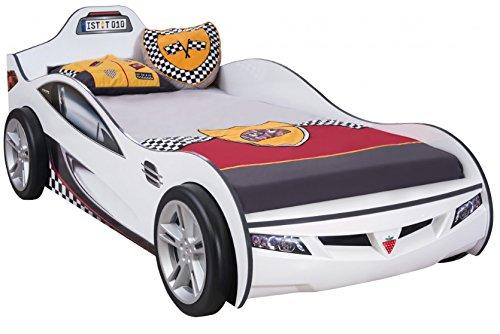 Cilek COUPE Rennfahrerbett Autobett Kinderbett Bett Weiß (ohne Matratze)