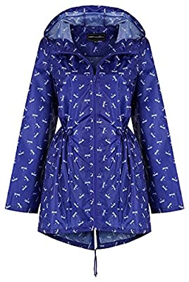 Ladies Women Rain Mac Raincoat Showerproof Fishtail Kagool Kagoul Festival Parka Jacket Hooded Lightweight Shower Proof Rain Coat Rainmac Plus Sizes 8 to 26 - by KALCO Toys UK ®