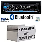 Fiat Grande Punto 199 - JVC KD-R871BT - Bluetooth CD/MP3/USB Autoradio - Einbauset