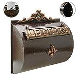 Boîte aux lettres rétro antique vintage fonte coloré oxyde pour mur par PrimeMatik