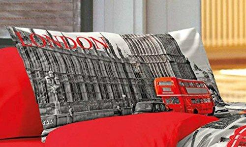 paire-de-taies-doreiller-dun-ct-dessin-bus-rouge-londonien-comme-photos-par-lautre-ct-uni-rouge-en-c