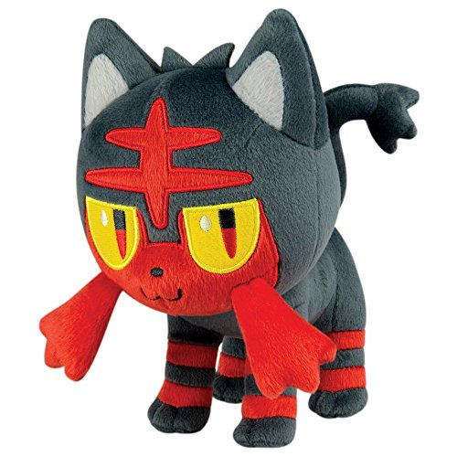Pokemon Litten 8 Inch Plush Toy - Standing Litten Pose
