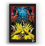 Arthole.it Il Labirinto del Fauno dal Film di Guillermo del Toro - Quadro Pop-Art Originale con Cornice, Dipinto, Stampa su Tela, Poster, Locandina