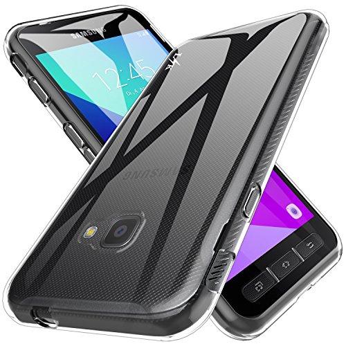 LK Samsung Galaxy Xcover 4 Hülle, Ultra Schlank Dünn TPU Gel Gummi Weiche Haut Silikon Anti-Kratzer Schutzhülle Abdeckung Case Cover (Transparent)