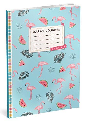 Bullet Journal: Punktraster Notizbuch (Ca. A5) + 100 Seiten + Vintage Softcover | TOP Motiv: Karibik | Dot Grid Journal, Kalligraphie Übungsheft, Punktpapier +++ Jetzt mit Register +++