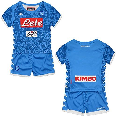 SSC Napoli Equipación de juego local junior azul cielo fantasía, azul, 12 mesi