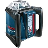 Bosch Professional GRL 500 HV - Nivel láser giratorio con receptor LR50 (alcance: 500 m con receptor, cargador, maletín, nivelación horizontal y vertical)