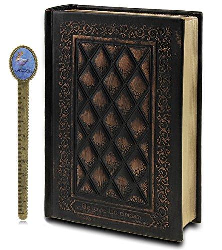 Liying - Taccuino con copertina in pelle, per diario personale, diario di viaggio, schizzi, colore: bronzo Misura unica nero