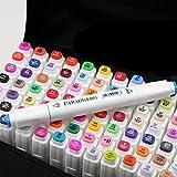 80 Farbige Marker Pens,Harmlos,Twin Tip Textmarker Graffiti Pens für Sketch Marker Stifte Set Mit Deutschland DHL schnelle Lieferung (weißen)